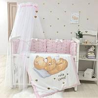 Балдахин Happy Baby с розовой лентой ТМ Маленькая Соня
