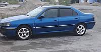 Дефлекторы окон Peugeot 406 Sd 1995-2000 (Пежо 406) Cobra Tuning