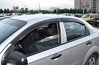 Дефлекторы окон Chevrolet Aveo I Sd 2006-2010 (Шефроле Авео) Cobra Tuning