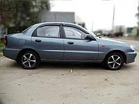 Дефлекторы окон Chevrolet Lanos Sd 2005 Шевроле Ланос Cobra Tuning