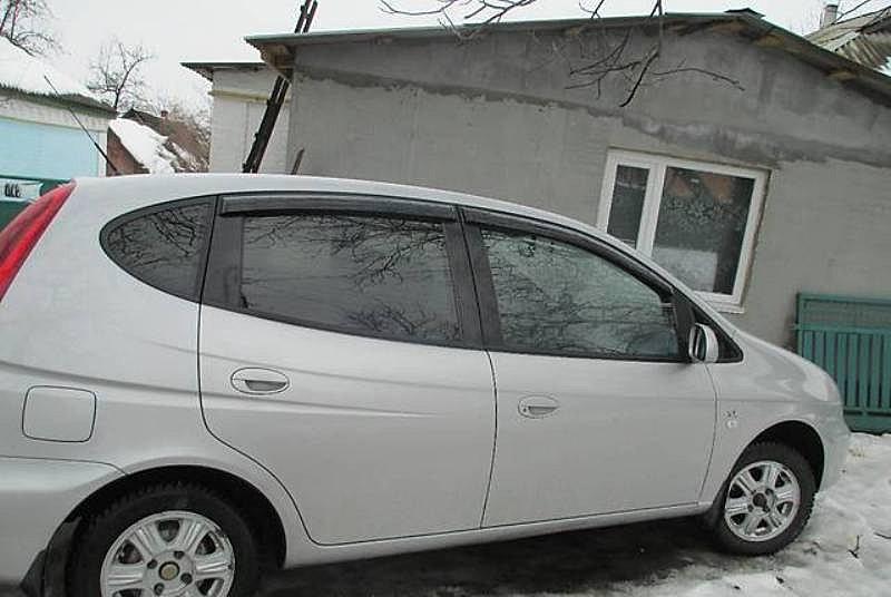 Дефлекторы окон Chevrolet Rezzo 2005-2009/Daewoo Tacuma 2000-2004 (Шевроле Реззо) Cobra Tuning
