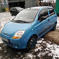 Дефлекторы окон Chevrolet Spark II 2005-2009 (Шевроле Спарк) Cobra Tuning