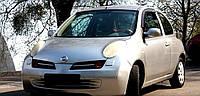 Дефлекторы боковых стекол Nissan Micra 3d (K12) 2003 (Ниссан Микра) Cobra Tuning