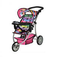 Детская коляска прогулочная для куклы Melogo Мелого 9377 B-T, разноцветная