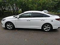 """Боковые дефлекторы Hyundai Sonata VII Sd 2017 деф.окон """"CT"""""""