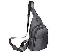 Сумка мини-рюкзак мужская 6070-2Grey Серая