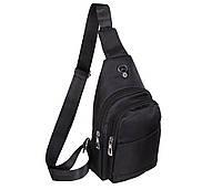 Сумка мини-рюкзак мужская 6070-4Black Черная