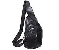 Сумка мини-рюкзак мужская IT1018Black Черная
