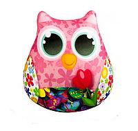Мягкая игрушка-антистресс Сова с тюльпаном (35003) КОД: 35003