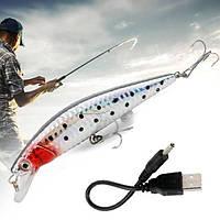 Электронный воблер со светодиодной подсветкой Twitching Lure приманка для ловли хищных рыб Твичинг Лур)
