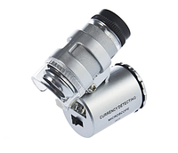Микроскоп с LED подсветкой 60х Фонарик Футляр