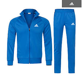 Спортивный костюм Адидас синий, Мужской тонкий костюм Adidas на молнии,Турция