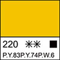 Краска акриловая художественная ЛАДОГА желтая средняя 220 мл. ЗХК 351257 Невская палитра