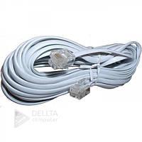 Телефонный удлинитель Starling 6P4C белый, RJ-11, 2м, кабеля телефонные, провода телефонные, сетевой кабель