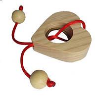 Веревочная головоломка Круть Верть Сердце (nevg-0051) КОД: nevg-0051