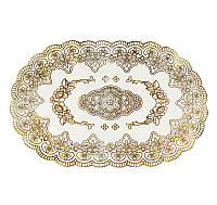 Овальная салфетка Supretto с золотым декором 45 х 30 см (5155) КОД: 5155
