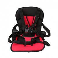 Бескаркасное автокресло Multi Function Car Cushion для детей Красный (HbP050334) КОД: HbP050334