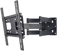"""Кронштейн крепление для телевизора ТВ монитора CP402 черный, металл, от 26"""" до 55"""", до 40кг"""