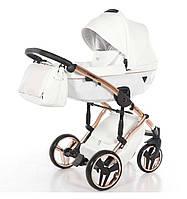 Универсальная коляска 2 в 1 TAKO Junama Diamond Individual 06 Белая с медной рамой (24-JD-IN-06) КОД: 24-JD-IN-06