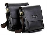 Мужская сумка Polo Viden Classic Black (FL-140) КОД: FL-140