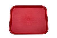 Поднос Winco FFT-1418R пластмассовый 35 х 45 см Красный (29014) КОД: 29014
