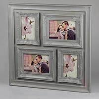 Фотоколлаж серый (55*55*2 см) , мультирамка настенная