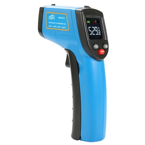Бесконтактный инфракрасный термометр (пирометр) цв дисплей -50-530°C, 12:1, EMS=0,1-1  BENETECH GM533A