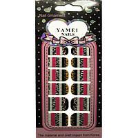 Наклейки Слайдеры для Дизайна Ногтей Ноготки Yamei Nails Самоклеящиеся №2013В № 07 Декор Ногтей