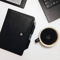 Обложка на блокнот v.3.0. FIsher Gifts BUSINESS черный (кожа)