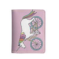 Картхолдер v.2.0. Fisher Gifts 732 Единорог на велосипеде (эко-кожа)