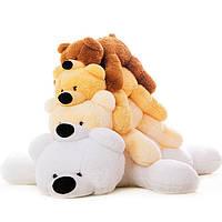 Красивый плюшевый мишка Умка, лежачий белый медведь 100 см