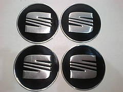 Наклейка на колпак диска Seat 90 мм