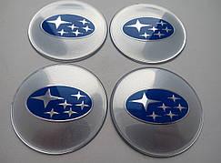 Наклейка выпуклая на колпачок диска Subaru 65 мм