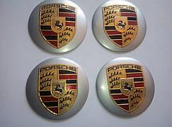 Наклейка выпуклая на колпачок диска Porsche 56 мм