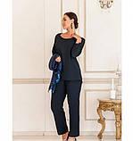 Очень нарядный, оригинальный и праздничный костюм-тройка №730Б-темно-синий, фото 2