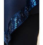 Очень нарядный, оригинальный и праздничный костюм-тройка №730Б-темно-синий, фото 4