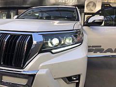 Накладки на фары Toyota Land Cruiser Prado 150 2018+