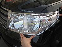Накладки на фары Toyota Land Cruiser 200 2008-2012