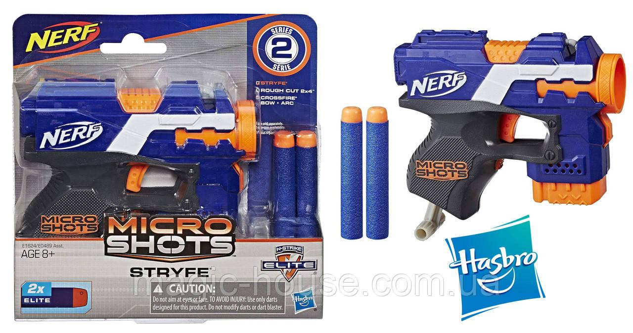 Нерф Бластер  Микрошот Элит Страйф Nerf MicroShots N-Strike Elite Stryfe оригинал от Hasbro