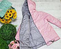 Куртка двухсторонняя для девочки весна код 894 размеры на рост от 146 до 164 возраст от 10 лет и старше, фото 1