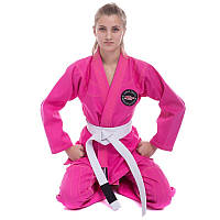 Кимоно женское для джиу джитсу розовое