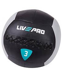 Мяч для кроcсфита LivePro WALL BALL 3 кг черный/серый