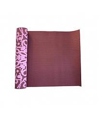 Йога-коврик LiveUp PVC PRINTED YOGA MAT, красный
