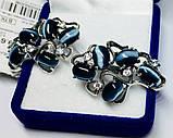 Сережки зі срібла з улекситом і цирконом Мадаба, фото 4
