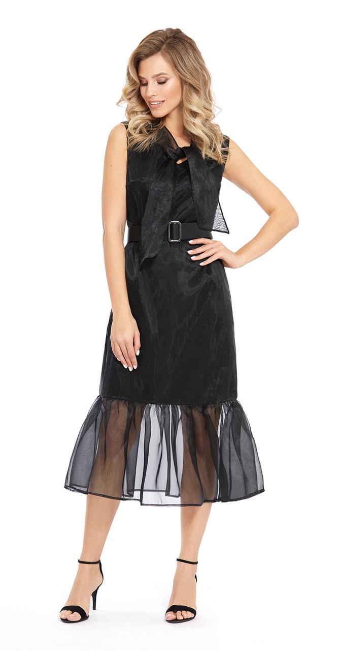 Платье PiRS-921 белорусский трикотаж, черный, 42