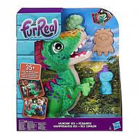 Интерактивный динозавр Рекс FurReal Munchin Rex Hasbro Малыш Дино 35 звуков