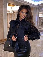 Женская блузка из фатина в горошек, фото 1