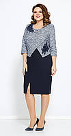 Платье Mira Fashion-4764 белорусский трикотаж, синий, 50