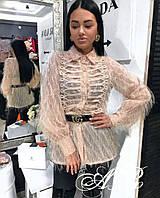 Стильная фатиновая блузка, фото 1