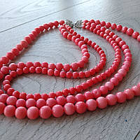 """Колье """"Кораллы розовые """", фото 1"""
